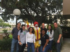 Quikstone Capital Solutions & Sterling Payment Technologies volunteer at Ronald McDonald House